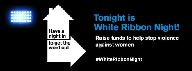 EDM Banner To Night is White Ribbon Night