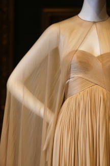 Grès, Paris fashion house France 1942–1988 Madame Grès designer France 1903–1993 Evening dress (detail) 1980 France silk (jersey, chiffon) The Dominique Sirop Collection National Gallery of Victoria, Melbourne