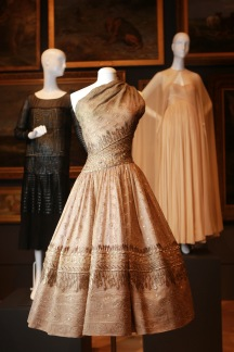 Christian Dior, Paris fashion house France est. 1946 Christian Dior designer France 1905–Italy 1957 Soirée de Lahore, evening dress (detail) 1955 winter silk (organza), metallic thread, diamanté The Dominique Sirop Collection National Gallery of Victoria, Melbourne