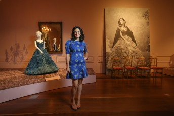 Inside 200 Years of Australian Fashion. Our lovely tour guide, curator Paola Di Tracchio.