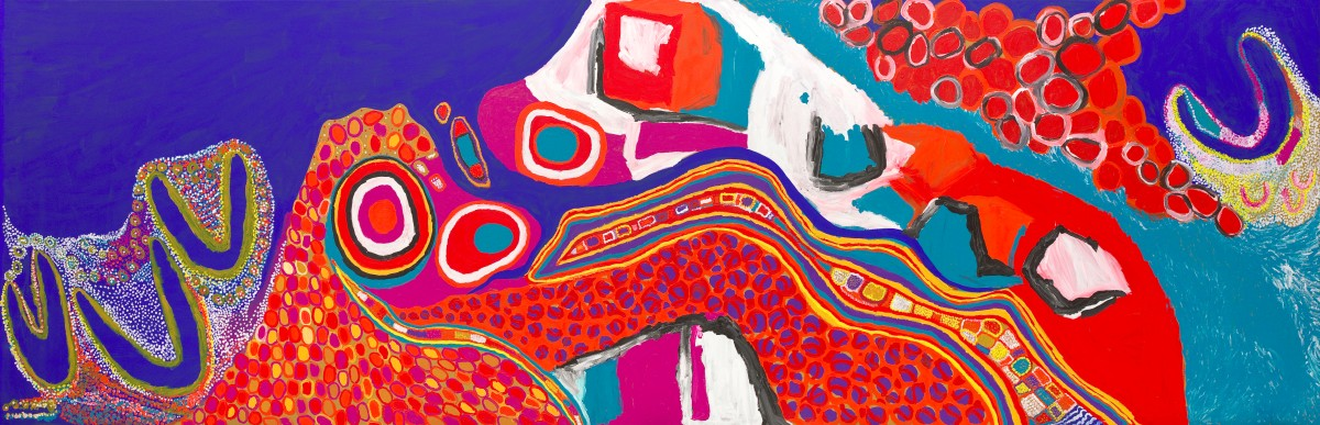 Major Sally Gabori Retrospective at Queensland Art Gallery