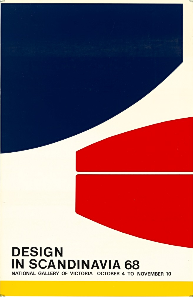 National Gallery of Victoria , Design in Scandinavia poster, 1968
