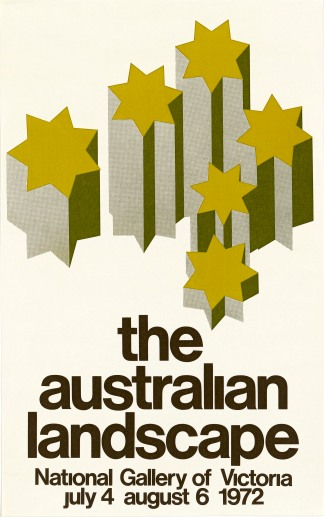 National Gallery of Victoria, The Australian Landscape poster, 1972