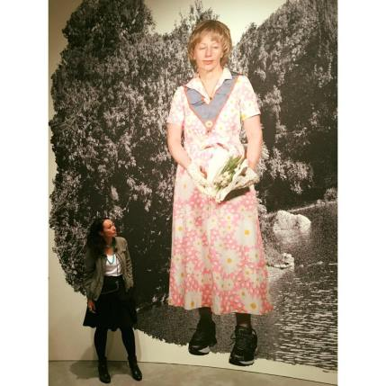 Tania Ogier attending the media preview of the Cindy Sherman exhibition at GOMA in 2015.