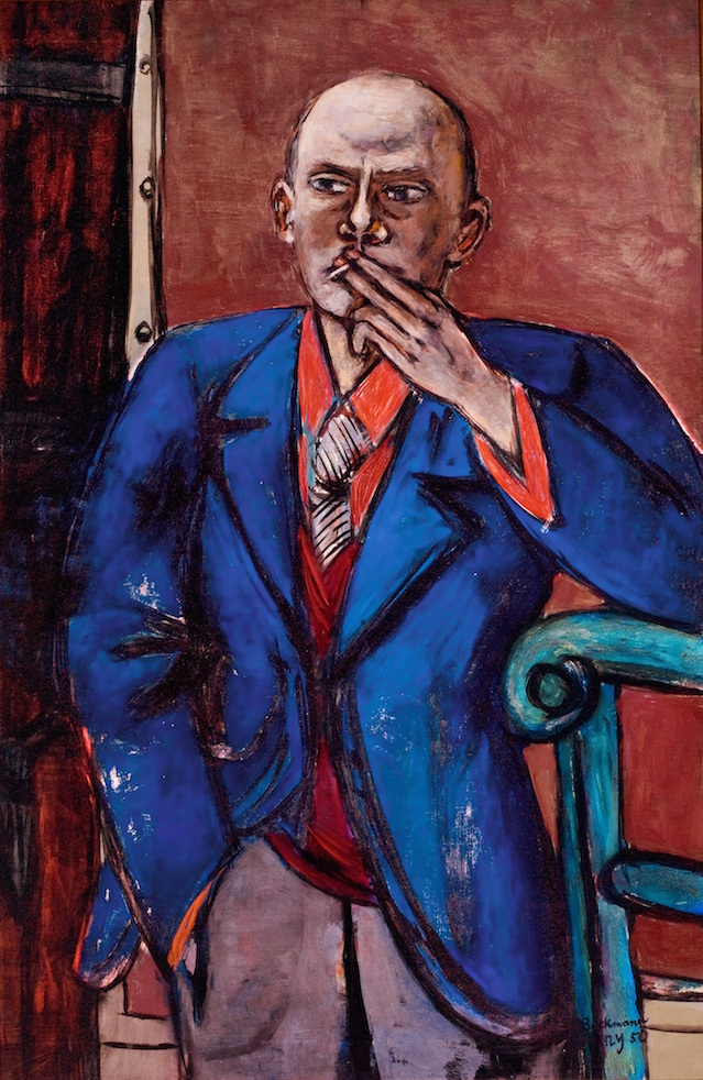 1. Max Beckmann in New York_Beckmann_Self-portrait in Blue Jacket_Saint Louis Art Museum