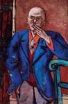 1. Max Beckmann in New York_Beckmann_Self-portrait in Blue Jacket_Saint Louis Art Museum