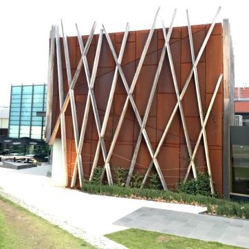 The back view of Bendigo Art Gallery