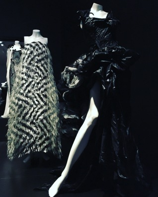 Black and white. Devastating glamour with ingenious textures