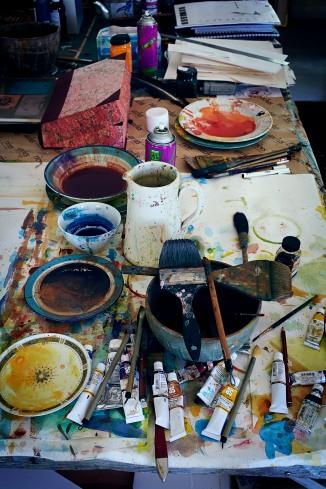 John Olsen's studio by Hugh Stewart © Hugh Stewart