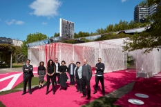 M@STUDIO Architectswith their designHaven't you alwayswanted...?for the 2016 NGV Architecture Commission.Left to right: Mark Jacques,Karla Martinez, Vivian Mitsogianni,Cameron Newnham,Leona Dusanovic,Thomas Sheehan,Luke Tuckman, Dean Boothroyd, Kerry KounnapisPhoto: Sean Fennessy