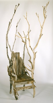 Gay HAWKES Cape Raoul chair 1991 driftwood and wood 310.6 x 113.6 x 148.0 cm National Gallery of Victoria, Melbourne Margaret Stewart Endowment, 1993 DC5-1993 © Gay Hawkes