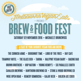 Melbourne Vegan Eats Brew + Food Fest launches in Melbourne on 5 November