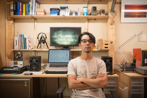Miyanaga Akira at his studio 'ViDeOM', located in Kyoto, Japan Photo: Miyanaga Akira