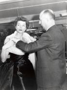 Christian Dior and fashion model c. 1950 © Christian Dior