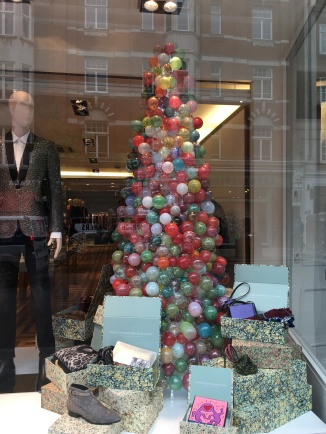 Christmas tree at Matches Fashion, Marylebone