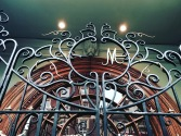 Beautiful wrought iron gate with my first initial.