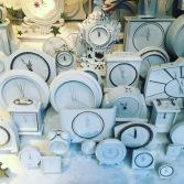 White clocks for Christmas