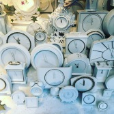 White clocks for Christmas