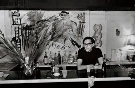 Club 57 bar, 1981. Pictured: Ira Abramowitz. Photograph by and courtesy Lina Bertucci