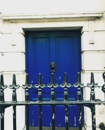 A bold blue doorway at the Scotland Office. It's the lion knocker that grabbed me.
