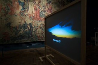 Rosa Barba, 'Let Me See It', Tapestries Gallery, V&A (c) Victoria and Albert Museum, London (1)