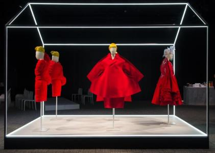 Photo 3 Caption: Rei Kawakubo for Comme des Garçons objects on display at The Met's Rei Kawakubo/Comme des Garçons: Art of the In-Between advance press event.