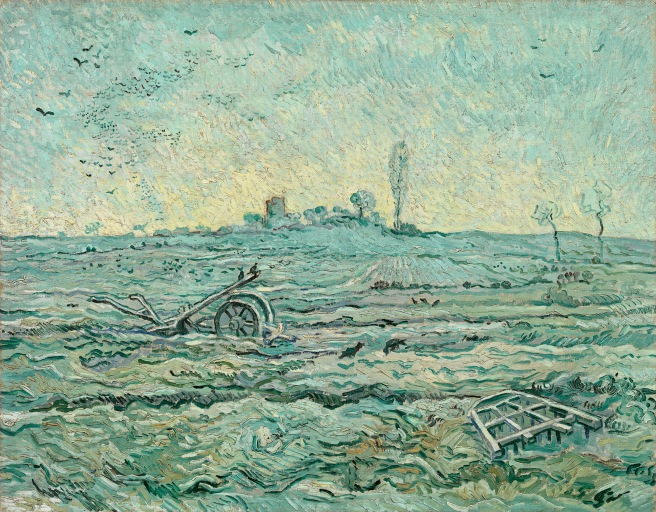Vincent van Gogh Dutch 1853–90Snow-covered field with a harrow (after Millet)January 1890 Saint-Rémyoil on canvas72.1 x 92.0 cmVan Gogh Museum, Amsterdam (Vincent van Gogh Foundation)