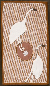WUNUWUN, Jack Barnumbirr Manikay II - (Morning Star Song Cycle) Gururrki - Brolga 67.2017 Non-collection Janet Holmes a Court Collection Painting Ochre pigments 45.1 x 25.5cm