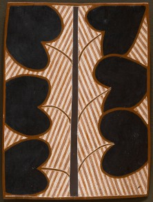 WUNUWUN, Jack Barnumbirr Manikay II - (Morning Star Song Cycle) Wardawarda - Spear Tree 58.2017 Non-collection Janet Holmes a Court Collection Painting Ochre pigments 42.2 x 31.3cm