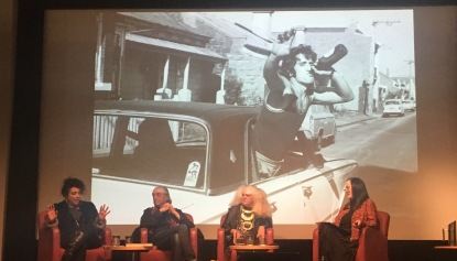 Manuela Furci, Monty Coles and Jenny Bannister joined Janice Breen Burns on stage to talk about the life and work of Rennie Ellis.