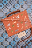 "BAD DADS VIII Jayde Fish ""The Jack Whitman"" acrylic on leather train case 8.5"" x 6.5"" x 4"""