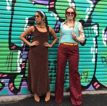 Emily & Brooke rock out in a Fitzroy back lane.