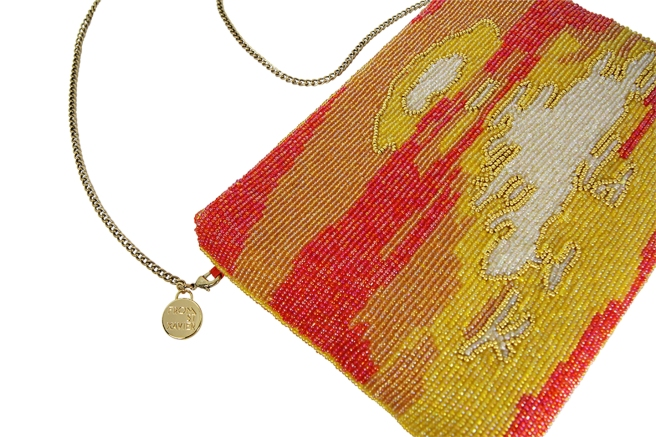 Replete with sequins, natural metals and glass beads, From St Xavier's signature clutches exude a distinctive bohemian glamour.