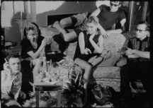 Andy Warhol, Afternoon, 1966. Pictured: Donald Lyons, Dorothy Dean Edie Sedgwick, Ondine, Arthur Loeb. [MOM 15170 frame-055327] ©2018 The Andy Warhol Museum, Pittsburgh, PA, a museum of Carnegie Institute. All rights reserved. Film still courtesy The Andy Warhol Museum