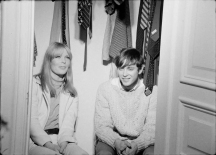 Andy Warhol, The Closet, 1966. Pictured: Nico, Randy Bourscheidt. [MOM 15161 frame-016767] ©2018 The Andy Warhol Museum, Pittsburgh, PA, a museum of Carnegie Institute. All rights reserved. Film still courtesy The Andy Warhol Museum