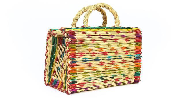 Folkloore Reed straw basket