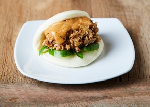 IPPUDO pork bun, a distinguishably fresher version of what we're used to.
