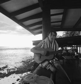 Jai having his Jack Johnson/Ben Stiller 'Taylor' moment as the sun sets