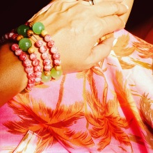 Resort report. Exploring Savai'i with a cuff my sister made.
