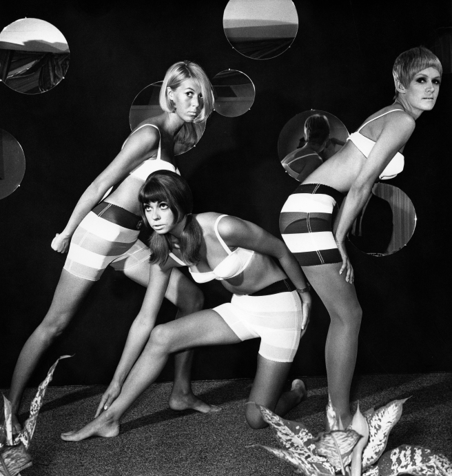 (GERMANY OUT) Quant, Mary *11.02.1934- Fashion Designer, UK - three models wearing underwear by Mary Quant (Photo by Otfried Schmidt/ullstein bild via Getty Images)