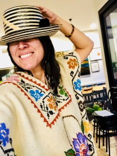 My favourite Yosuzi hat and a poncho Rich bought in California