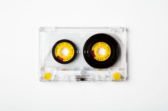 Cassette Tape On White