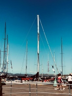 It's magic to be down at Salamanca when all the yachts have finished the Sydney to Hobart race