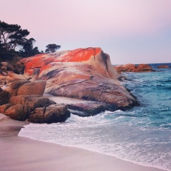 Sunset at Bay of Fires needs to be seen to be believed