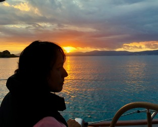 Sunset aboard Van Diemen. Photo: Richard Hawker