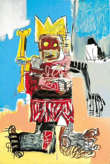 Jean-Michel Basquiat Untitled 1982 acrylic and oilstick on wood panel 183.0 x 122.5 cm Private collection © Estate of Jean-Michel Basquiat. Licensed by Artestar, New York